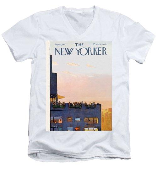 New Yorker September 5th, 1970 Men's V-Neck T-Shirt