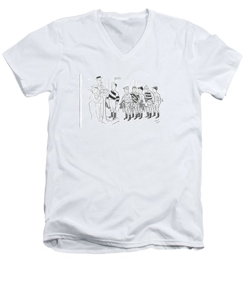 New Yorker September 7th, 1940 Men's V-Neck T-Shirt