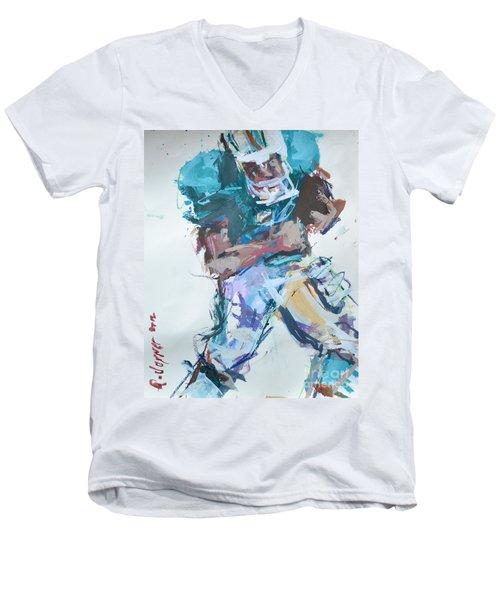 Nfl Football Painting Men's V-Neck T-Shirt