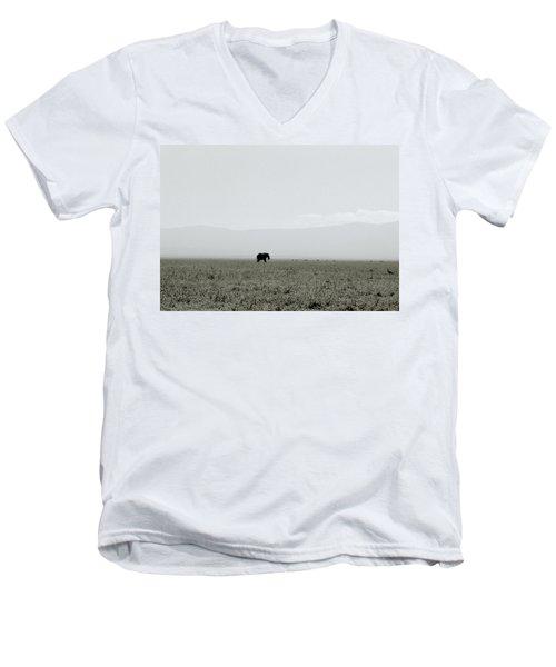 Ngorongoro Crater Men's V-Neck T-Shirt by Shaun Higson