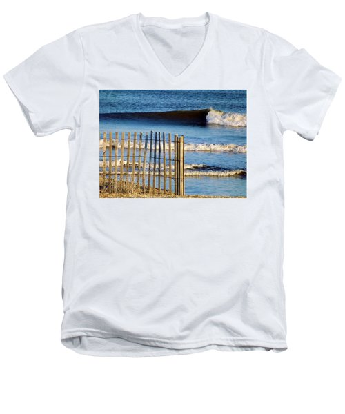 Nice Wave Men's V-Neck T-Shirt by John Wartman
