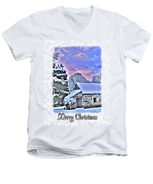 Christmas Card 27 Men's V-Neck T-Shirt by Nina Ficur Feenan