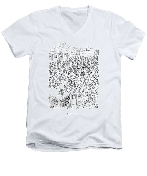No Comment Men's V-Neck T-Shirt