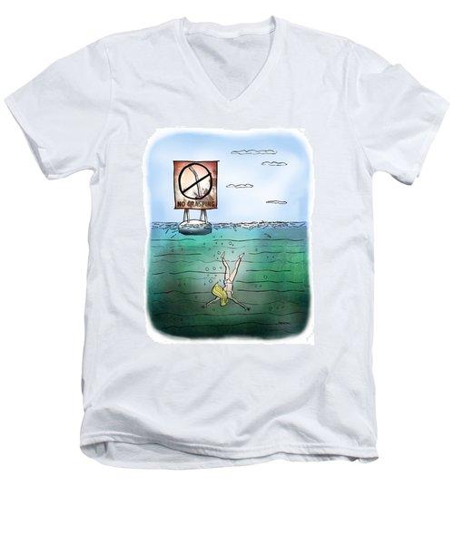 No Grasping Men's V-Neck T-Shirt