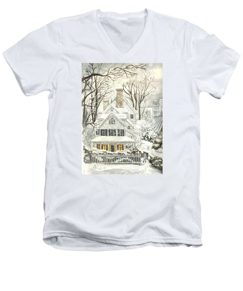 No Place Like Home For The Holidays Men's V-Neck T-Shirt