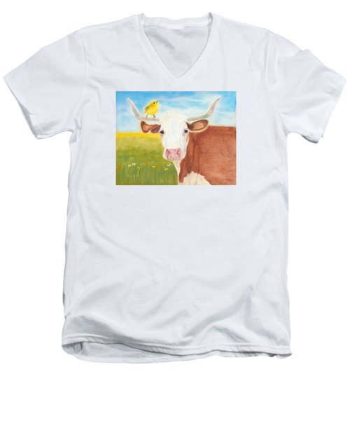 No Tree Necessary Men's V-Neck T-Shirt by Arlene Crafton