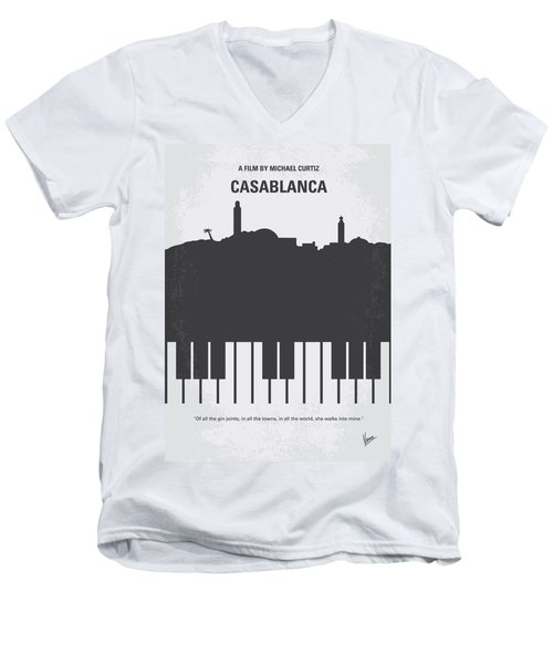 No192 My Casablanca Minimal Movie Poster Men's V-Neck T-Shirt by Chungkong Art