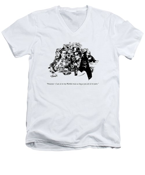 Nonsense - I Can Sit On My Warhols Twice As Long Men's V-Neck T-Shirt