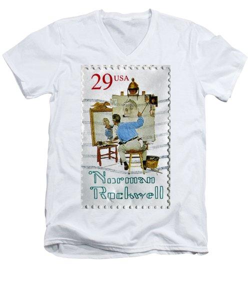 Norman Rockwell Men's V-Neck T-Shirt