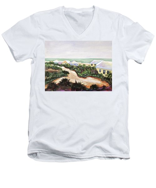 Men's V-Neck T-Shirt featuring the painting North Captiva by Patricia Piffath