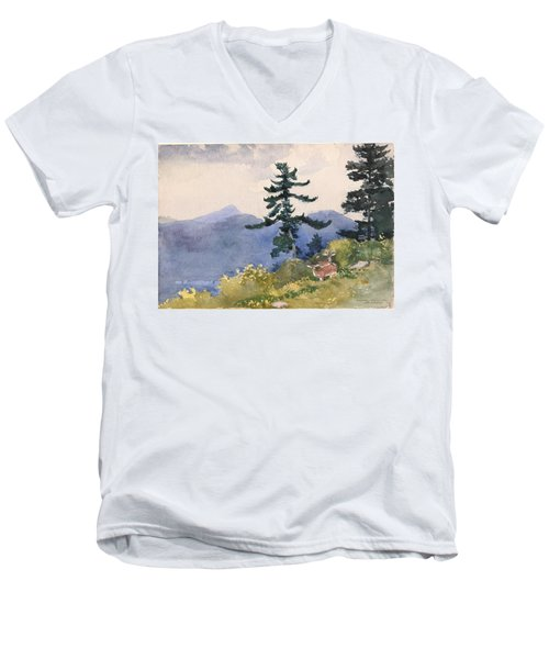 North Woods Club Men's V-Neck T-Shirt