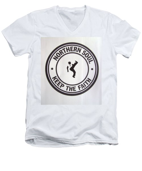 Northern Soul Dancer Men's V-Neck T-Shirt