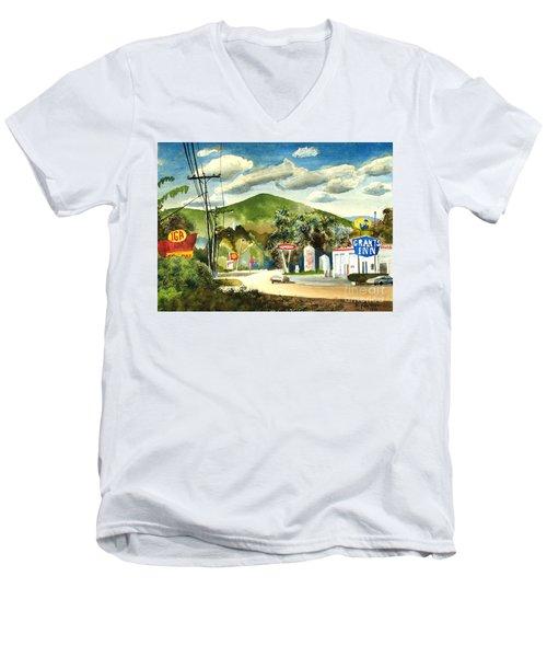 Nostalgia Arcadia Valley 1985  Men's V-Neck T-Shirt by Kip DeVore
