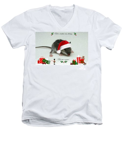 Not A Creature Was Stirring Men's V-Neck T-Shirt by Barbara S Nickerson