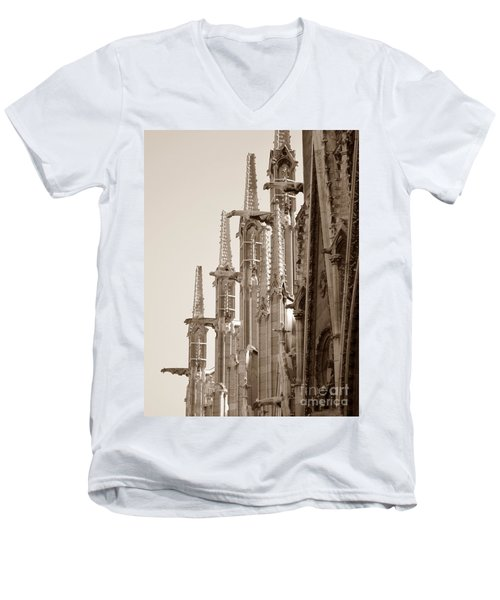 Notre Dame Sentries Sepia Men's V-Neck T-Shirt