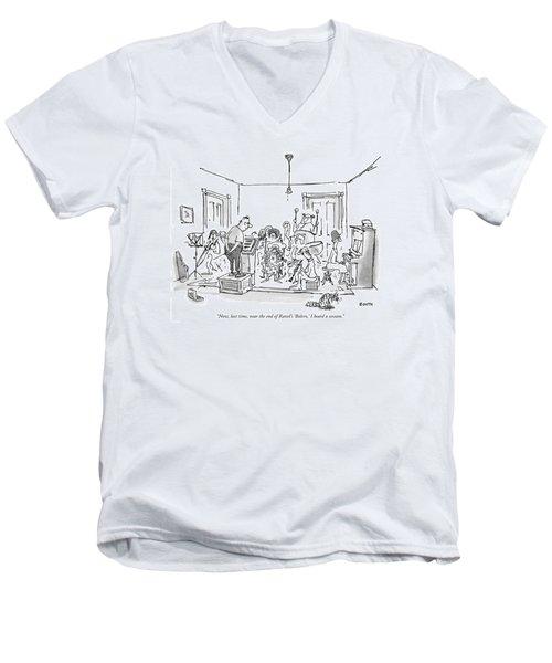 Now, Last Time, Near The End Of Ravel's 'bolero,' Men's V-Neck T-Shirt