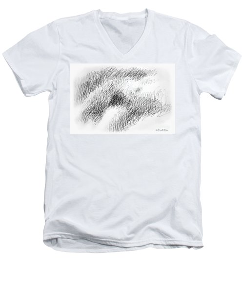Nude Female Abstract Drawings 1 Men's V-Neck T-Shirt
