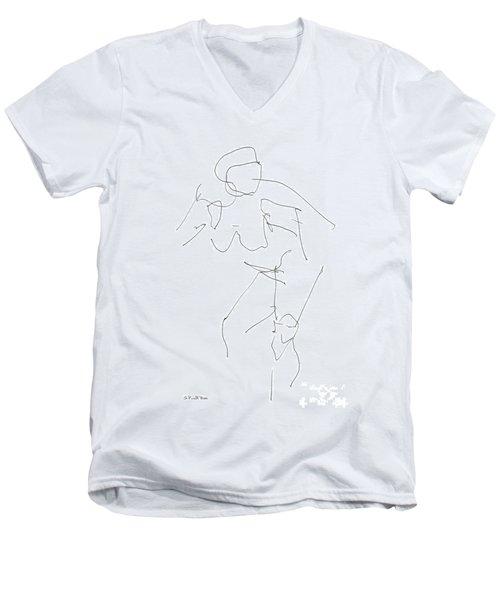 Nude Female Drawings 14 Men's V-Neck T-Shirt