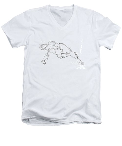Nude Male Drawings 1 Men's V-Neck T-Shirt