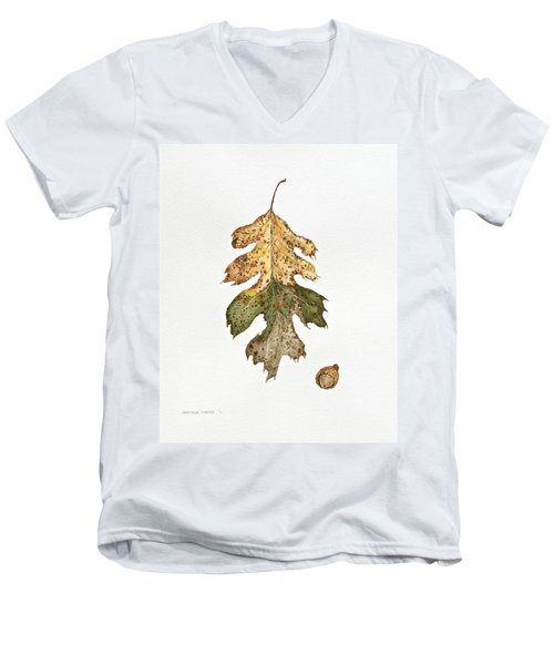 Oak Study Men's V-Neck T-Shirt by Michele Myers