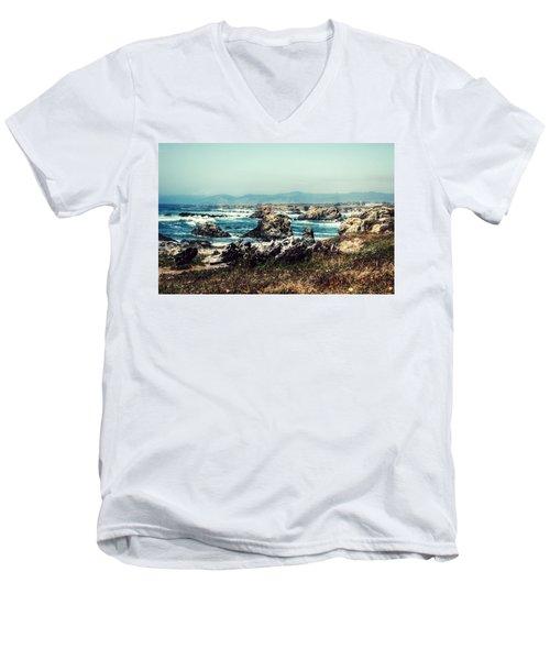 Ocean Breeze Men's V-Neck T-Shirt by Melanie Lankford Photography