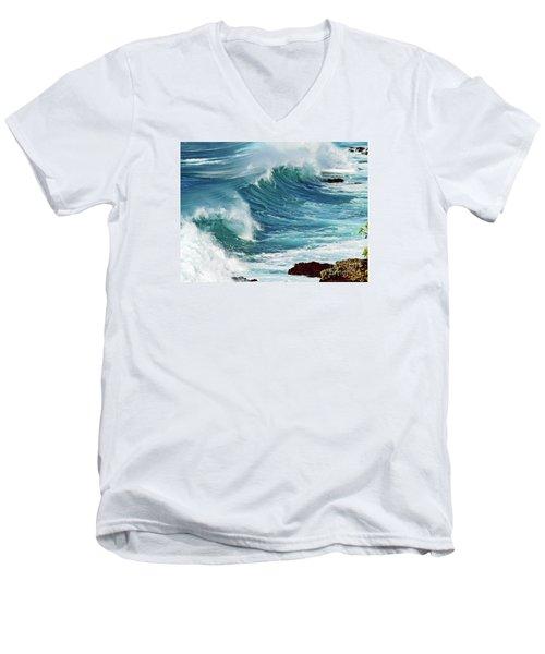 Ocean Majesty Men's V-Neck T-Shirt by Patricia Griffin Brett