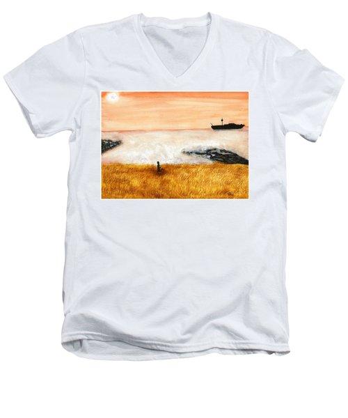 Ocean Mist 3 Men's V-Neck T-Shirt
