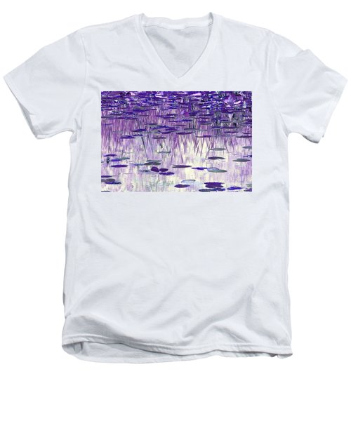 Men's V-Neck T-Shirt featuring the photograph Ode To Monet In Purple by Chris Anderson