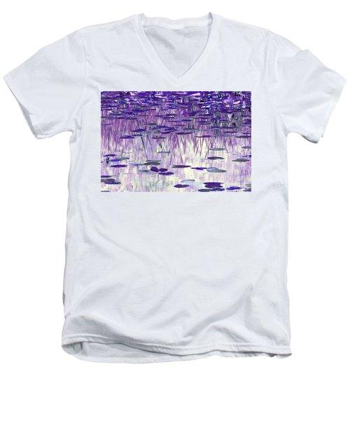 Ode To Monet In Purple Men's V-Neck T-Shirt