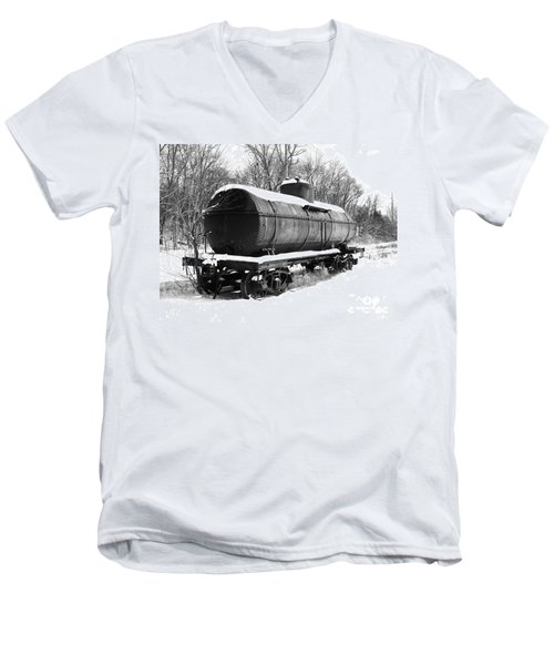 Men's V-Neck T-Shirt featuring the photograph Off The Beaten Track by Sara  Raber