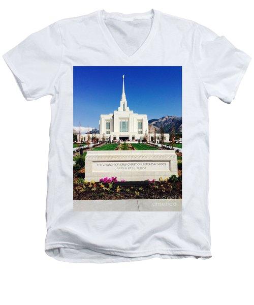 Ogden Temple 1 Men's V-Neck T-Shirt