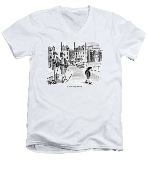 Oh, How Very French Men's V-Neck T-Shirt