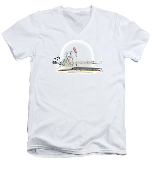 Oil Field Men's V-Neck T-Shirt