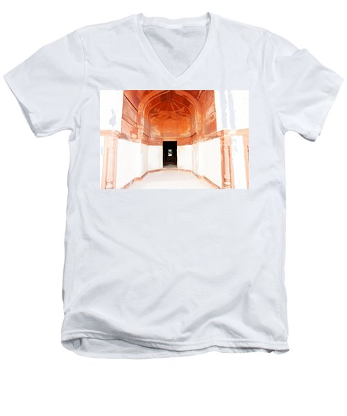 Oil Painting - Doorway In Humayun Tomb Men's V-Neck T-Shirt