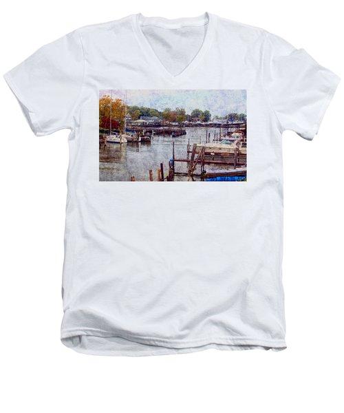 Olcott Men's V-Neck T-Shirt by Tammy Espino