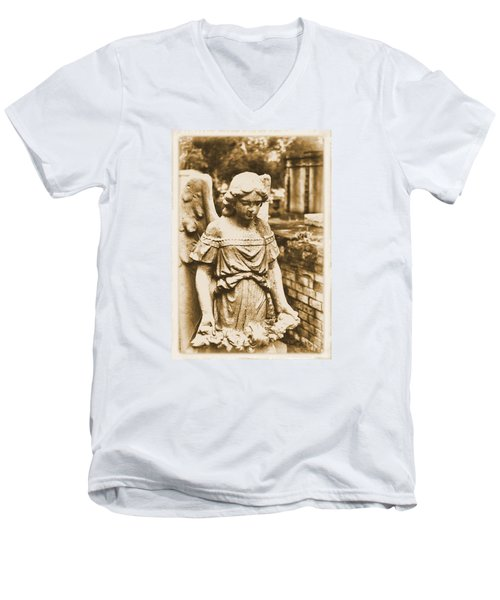 Blessed Angel   Men's V-Neck T-Shirt