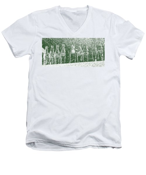 Men's V-Neck T-Shirt featuring the photograph Old Coke Bottles by Greg Reed