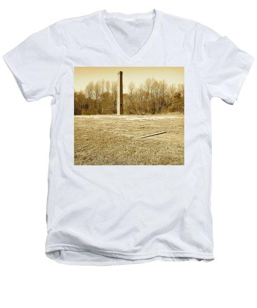 Old Faithful Smoke Stack Men's V-Neck T-Shirt by Amazing Photographs AKA Christian Wilson