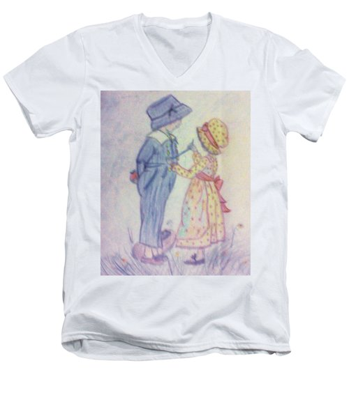 Old Fashioned Romance Men's V-Neck T-Shirt by Christy Saunders Church