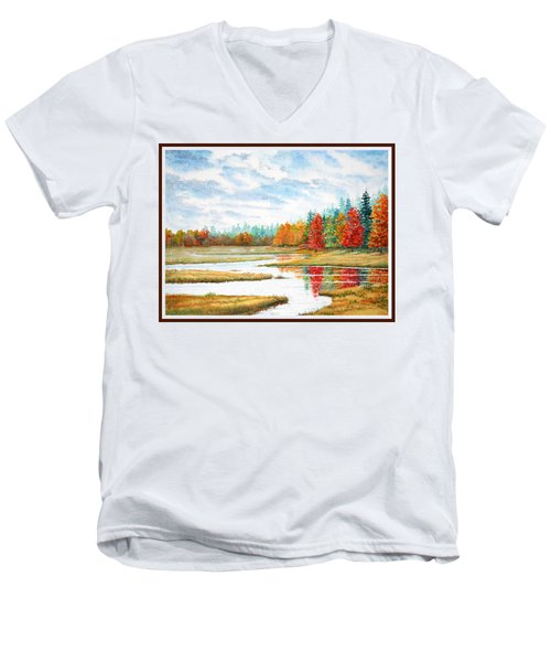Old Forge Autumn Men's V-Neck T-Shirt