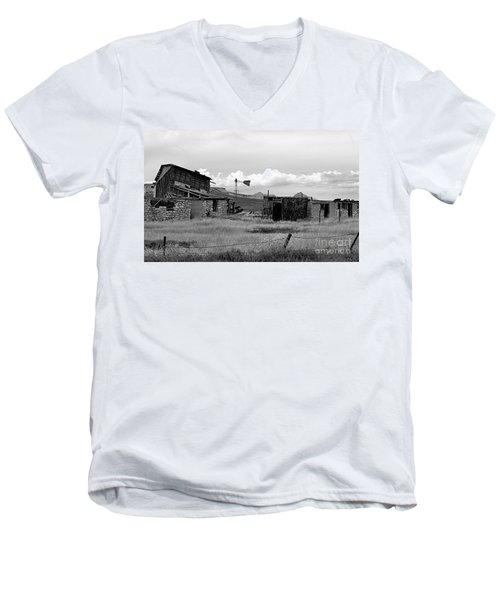 Old Fort Men's V-Neck T-Shirt by Steven Reed