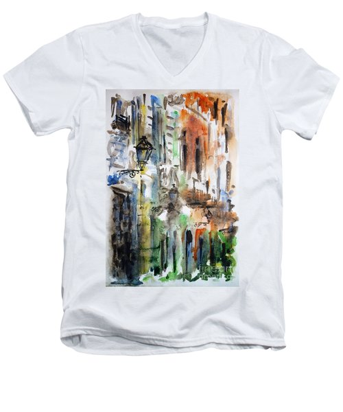 Old Houses Of San Juan Men's V-Neck T-Shirt