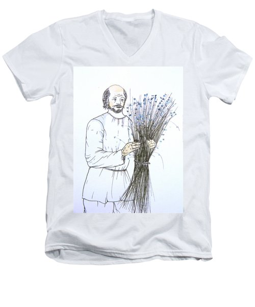 Old Man And Flax Men's V-Neck T-Shirt