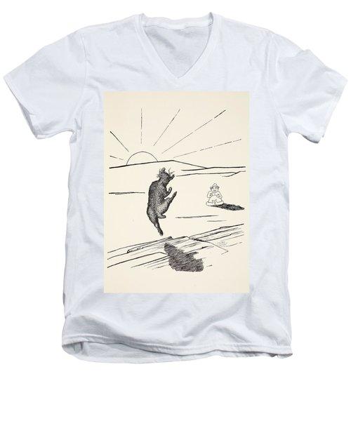 Old Man Kangaroo Men's V-Neck T-Shirt by Rudyard Kipling