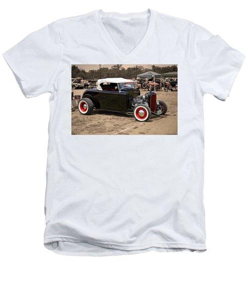 Old School Hot Rod Men's V-Neck T-Shirt