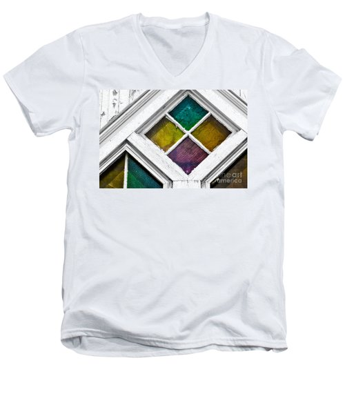 Old Stained Glass Windows Men's V-Neck T-Shirt