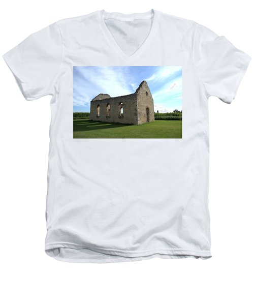 Old Stone Church 2 Men's V-Neck T-Shirt by Bonfire Photography