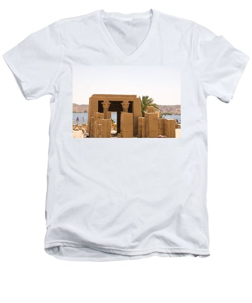 Old Structure 2 Men's V-Neck T-Shirt