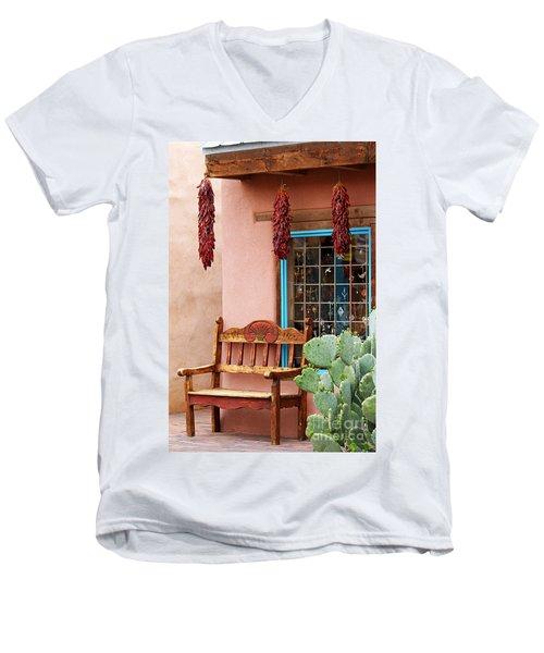 Old Town Albuquerque Shop Window Men's V-Neck T-Shirt
