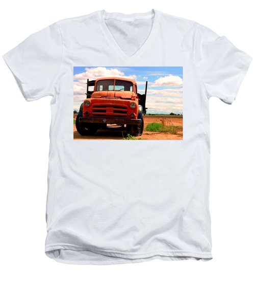 Old Truck Men's V-Neck T-Shirt by Matt Harang